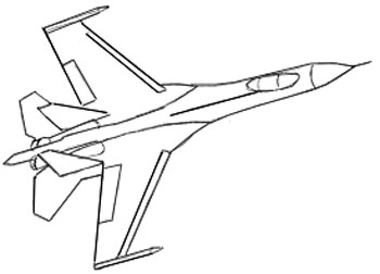 Drawn airplane line drawing An an 5 Step by