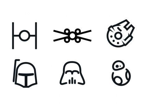 Drawn wars simple Pinterest tattoo icons minimal Star