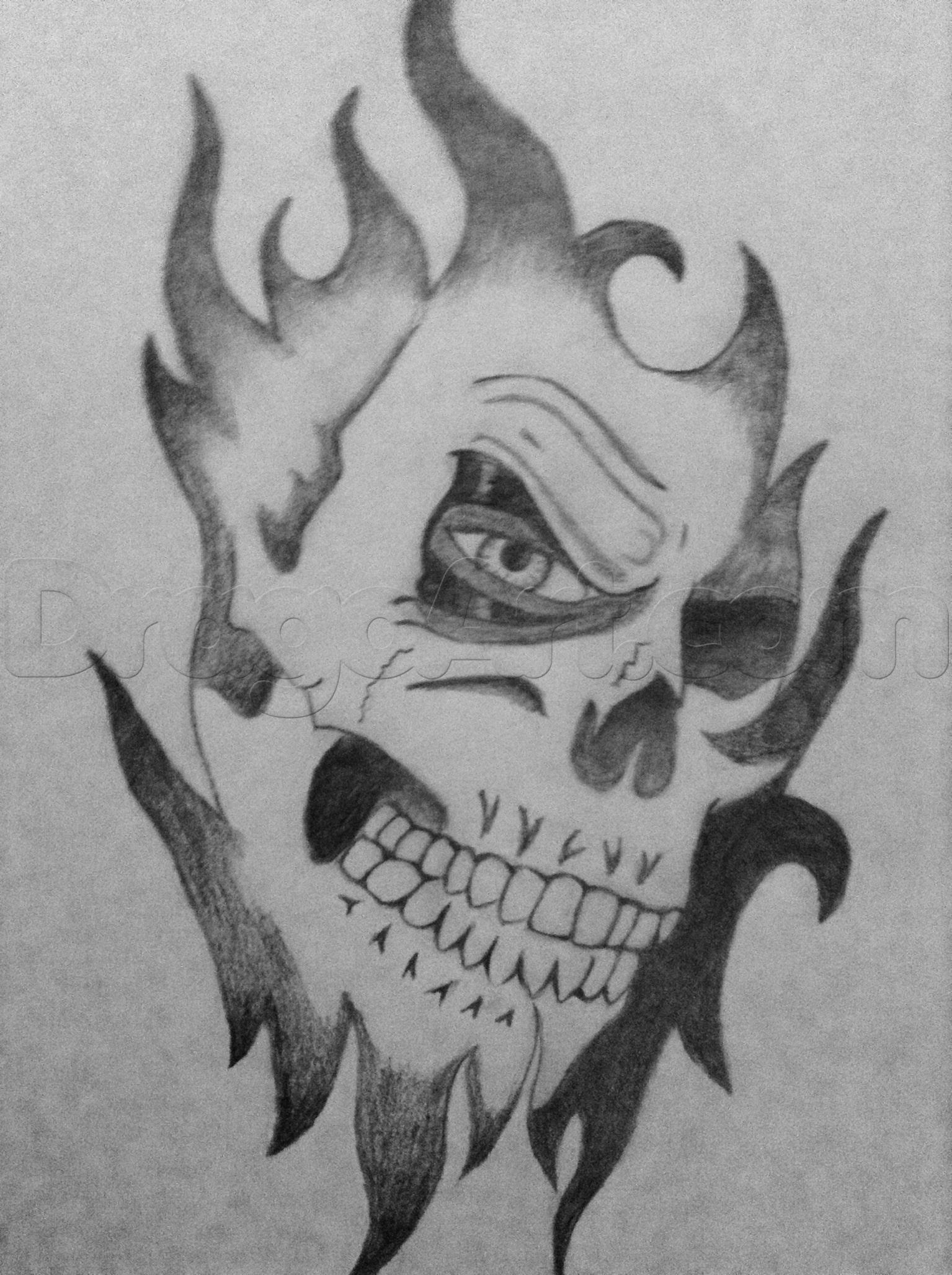 Drawn ssckull awesome Free Skull Free Clip Step