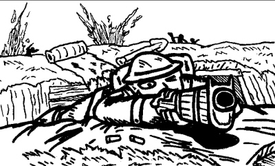 Drawn wars soilder Thug returns trenches A from