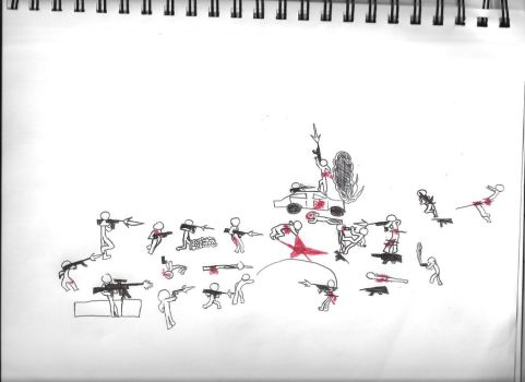 Drawn wars stick war By 0 Drawing 3 thecoolwaffle