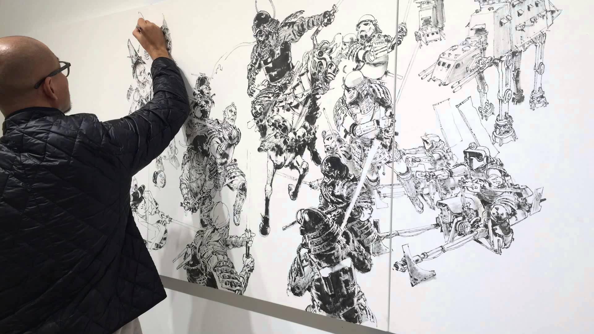 Drawn wars god war Live Art Gi Mashup Kim