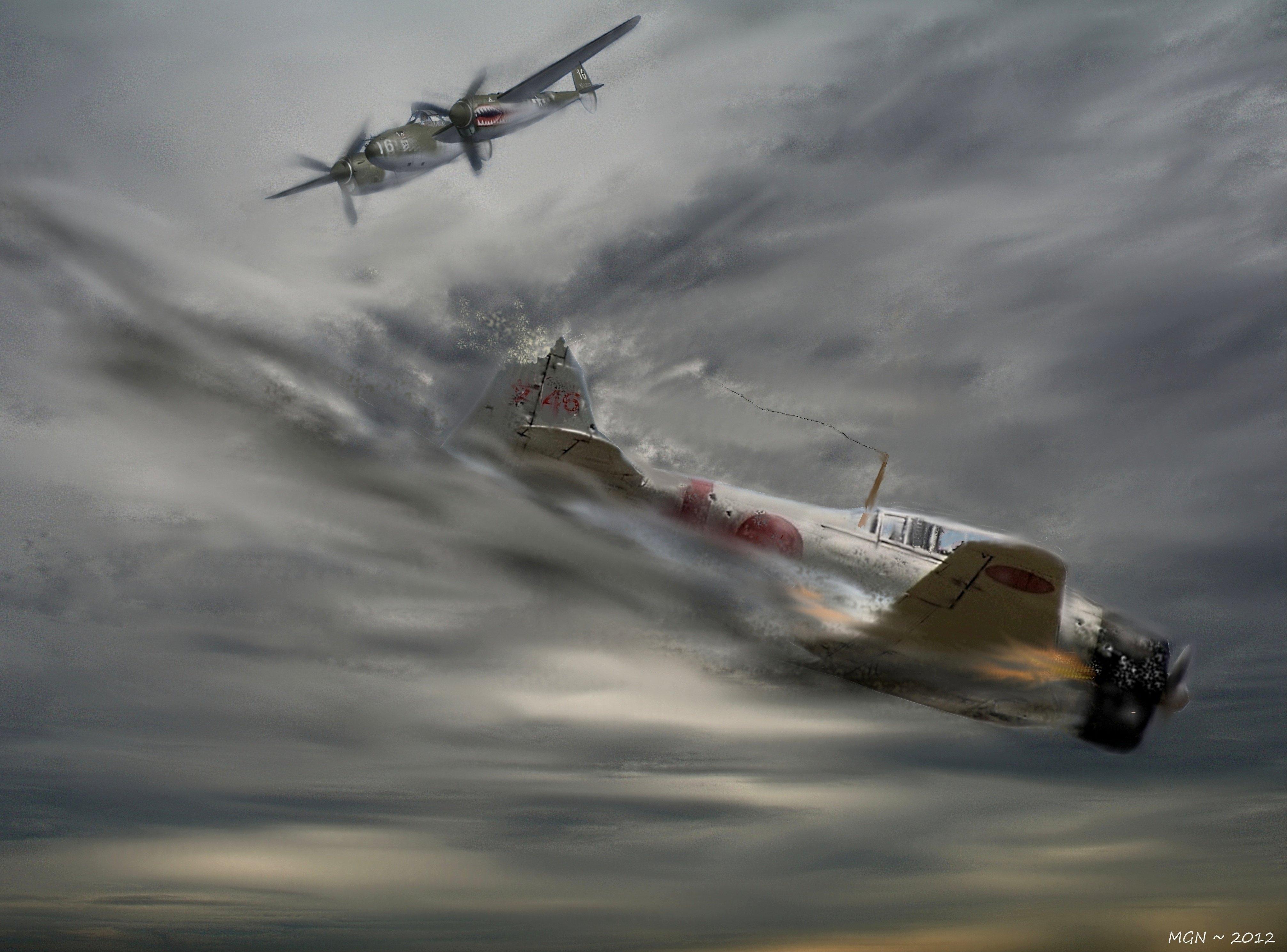 Drawn aircraft ww2 airplane Art military 4026x2979 Aviation war