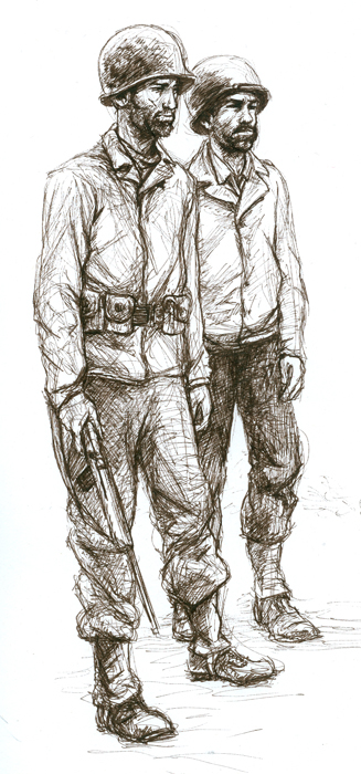 Drawn wars ww2 soldier Image  American War for