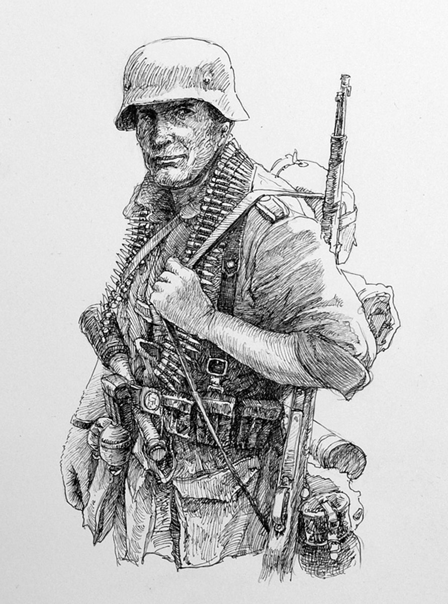 Drawn wars ww2 soldier Military drawing Pinterest German (891×1200)
