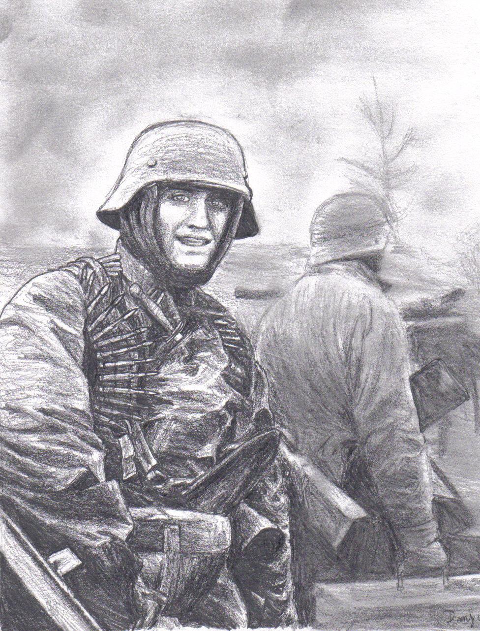 Drawn wars ww2 soldier German on by WW2 by