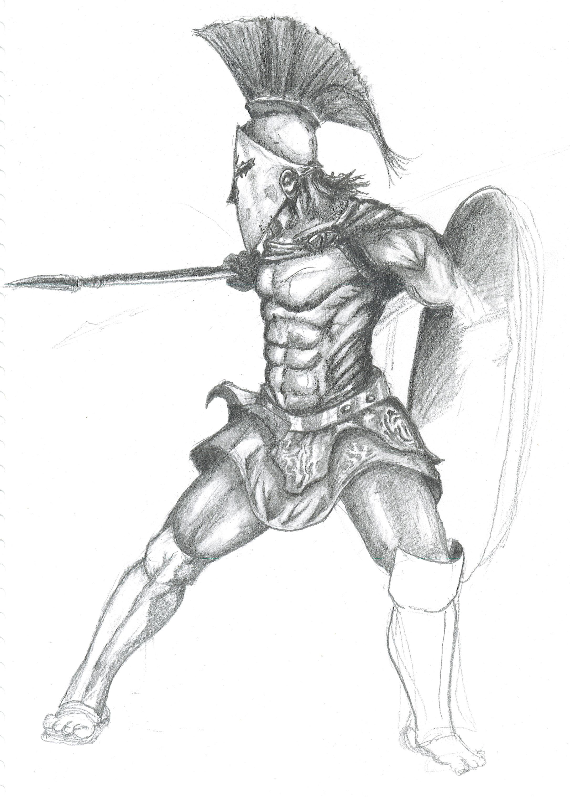 Drawn viking awesome · Viking Hawaiian Warrior Drawing