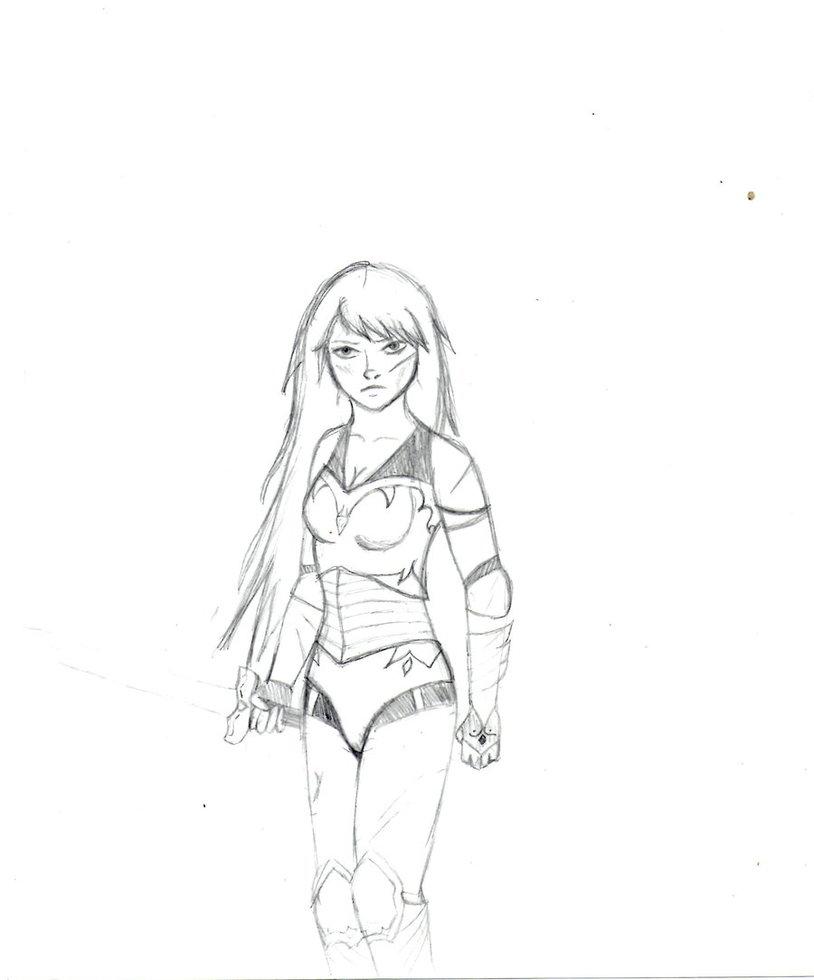 Drawn warrior By Warrior Rosariopinina DeviantArt Warrior