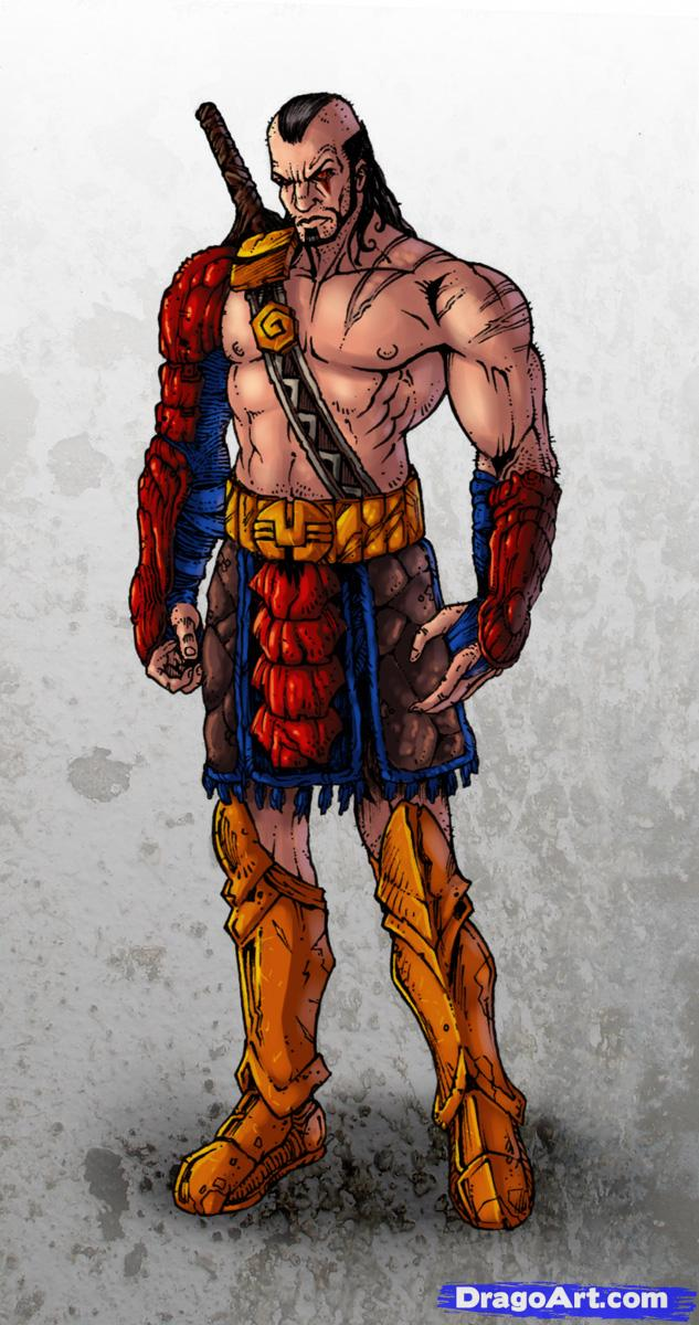 Drawn warrior Warrior how by Concept to