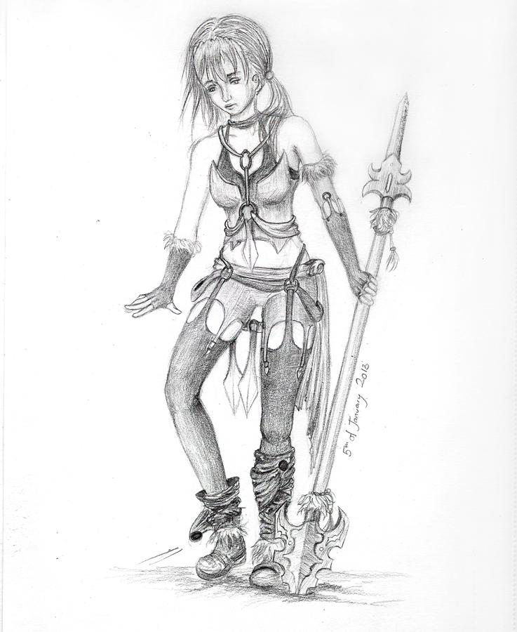 Drawn warrior Drawing Drawing #12 vlower
