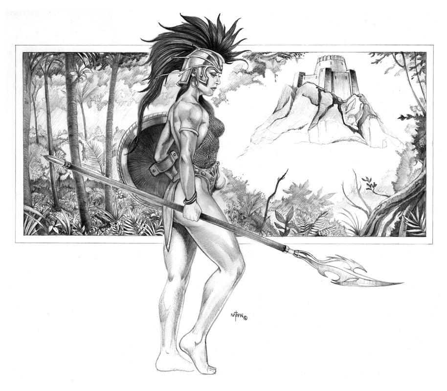 Drawn warrior amazon Amazon NathanRosario Amazon on Star