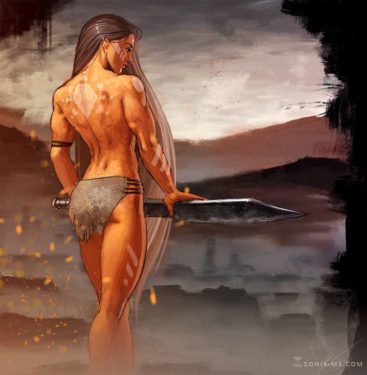 Drawn warrior amazon 1 warrior  Commission draw