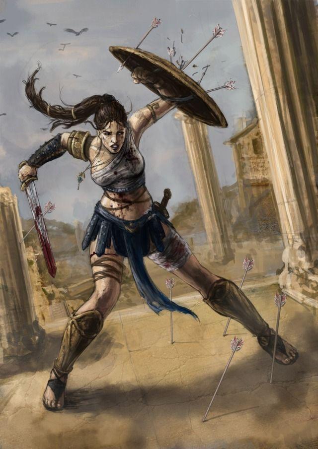 Drawn warrior amazon Fantasy (2d Amazon on images