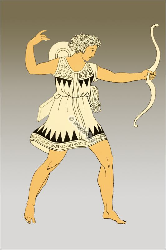 Drawn warrior amazon Costume Ancient History warriors Amazons