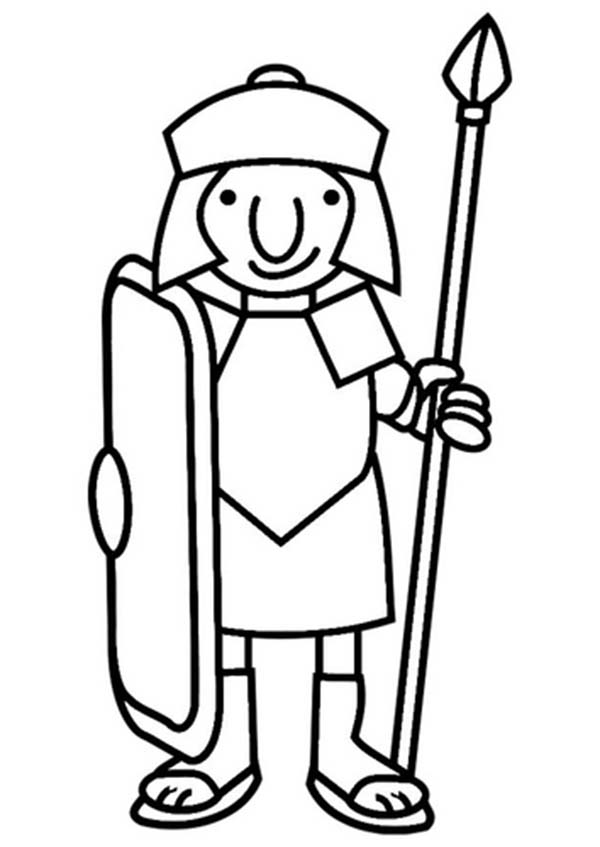 Soldier clipart drawn Roman A Page from A
