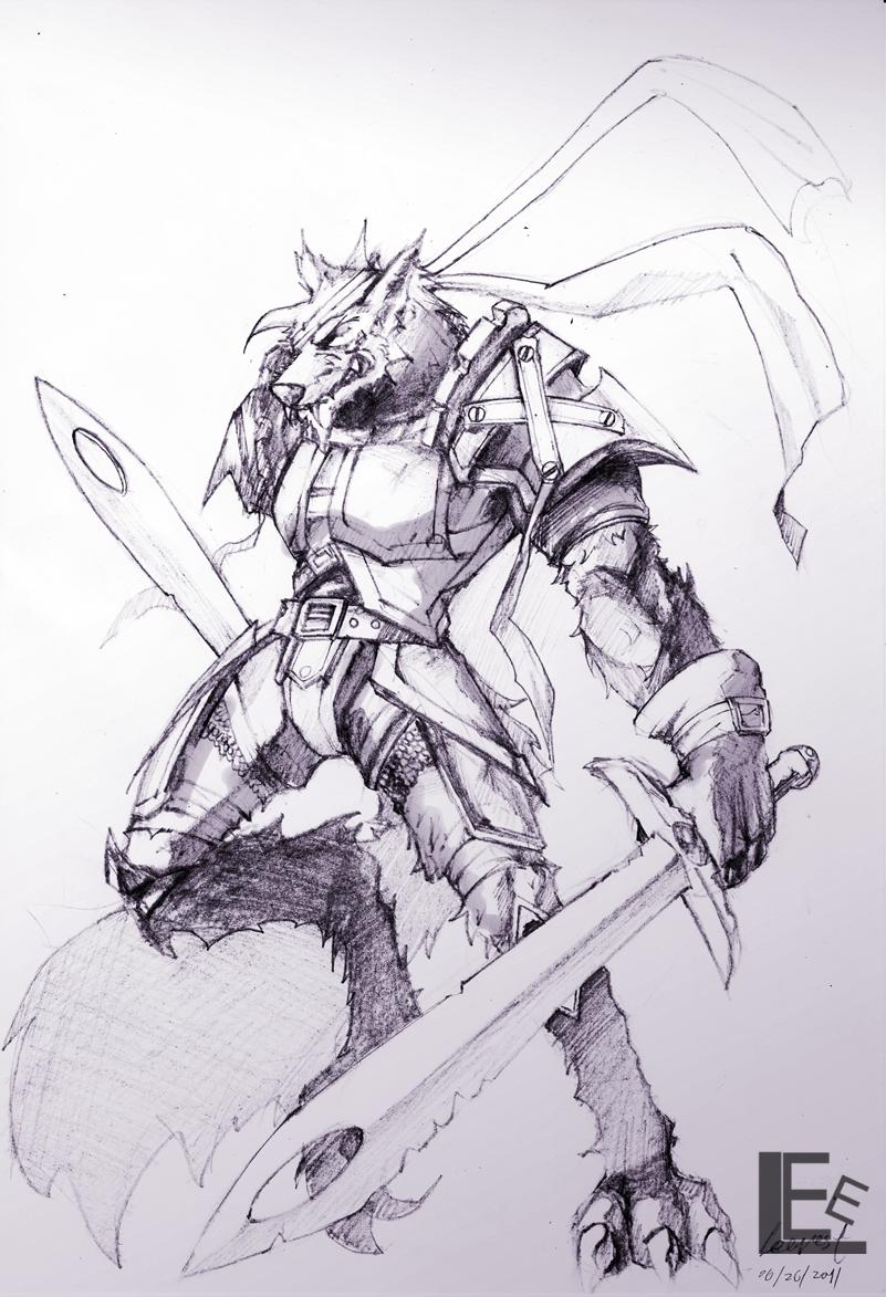 Drawn warrior anime Leevest on warrior by warrior