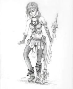 Drawn warrior anime Egek  by Female Warrior
