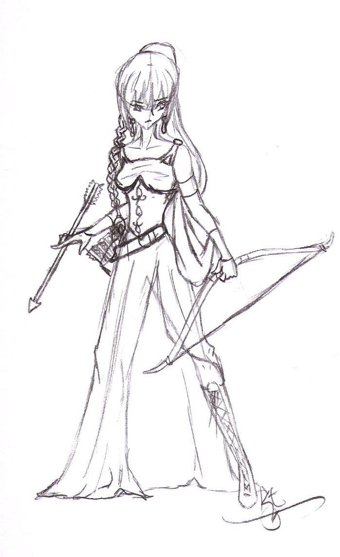 Drawn warrior anime Krieger > Anime Warrior Princess