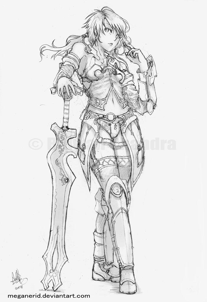 Drawn warrior anime Female on on DeviantArt Warrior