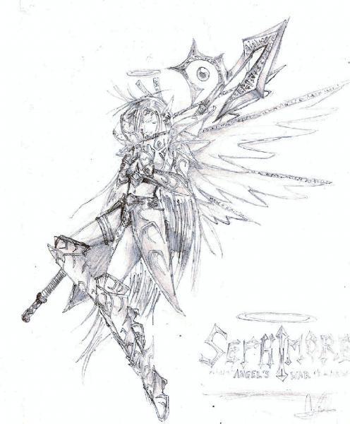 Drawn warrior anime Cianna Boyd  Google+