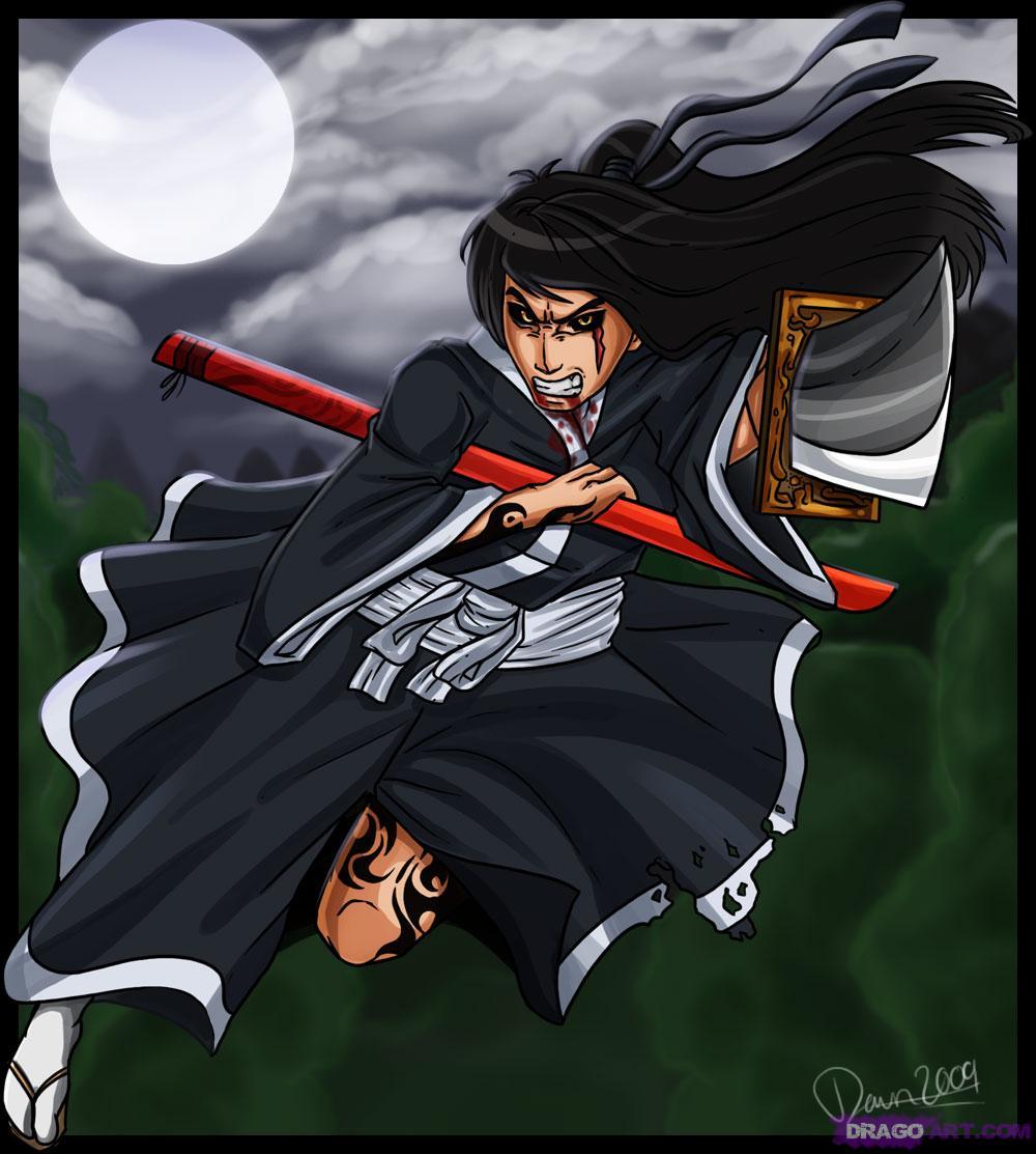 Drawn warrior anime samurai Samurai a a Draw Step