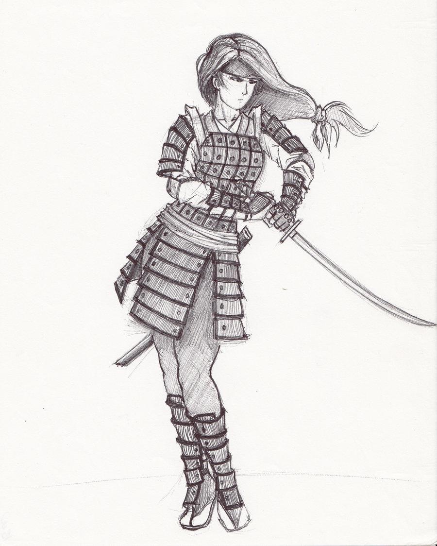 Drawn warrior anime samurai Cool image Drawings Drawings Cool