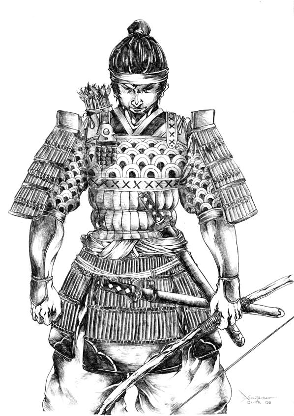 Drawn warrior anime samurai More Image and deviantart Google