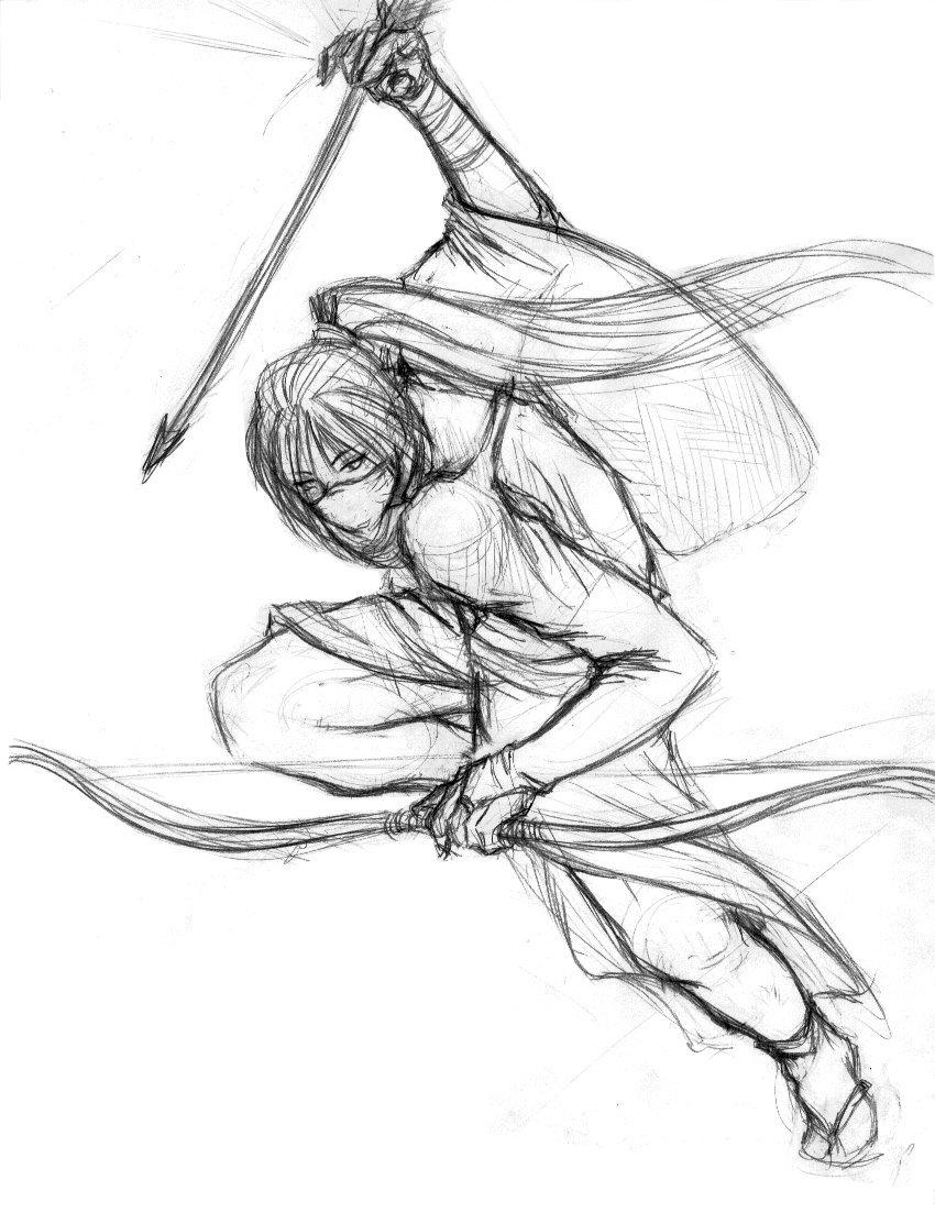 Drawn warrior anime samurai Samurai on marourin marourin Samurai