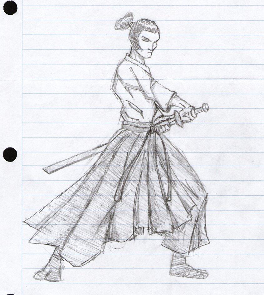Drawn warrior anime samurai By Anime Samurai Illustration by