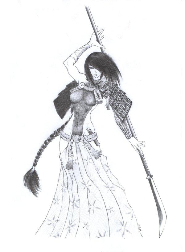 Drawn warrior anime samurai Female on Arilynazure Arilynazure Female