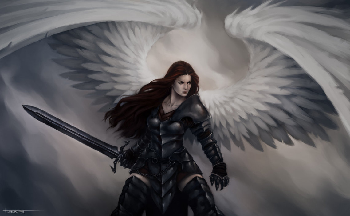 Drawn warrior archangel gabriel Angel DeviantArt Lucastorquato27 Angel on