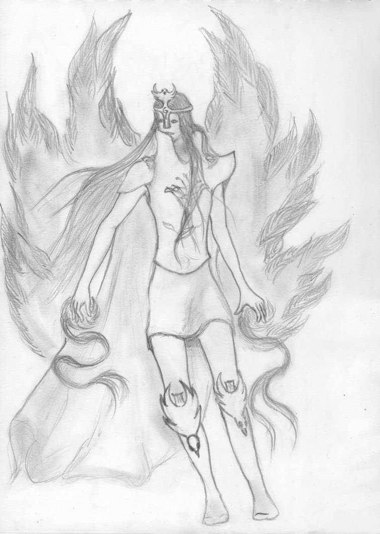 Drawn warrior archangel gabriel The DeviantArt Isharael The on