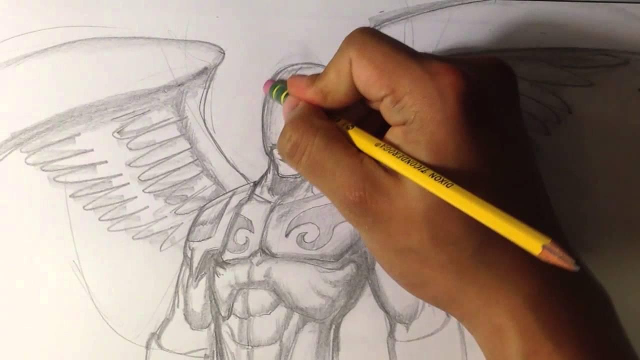 Drawn wars figure drawing Draw Fantasy YouTube Angel