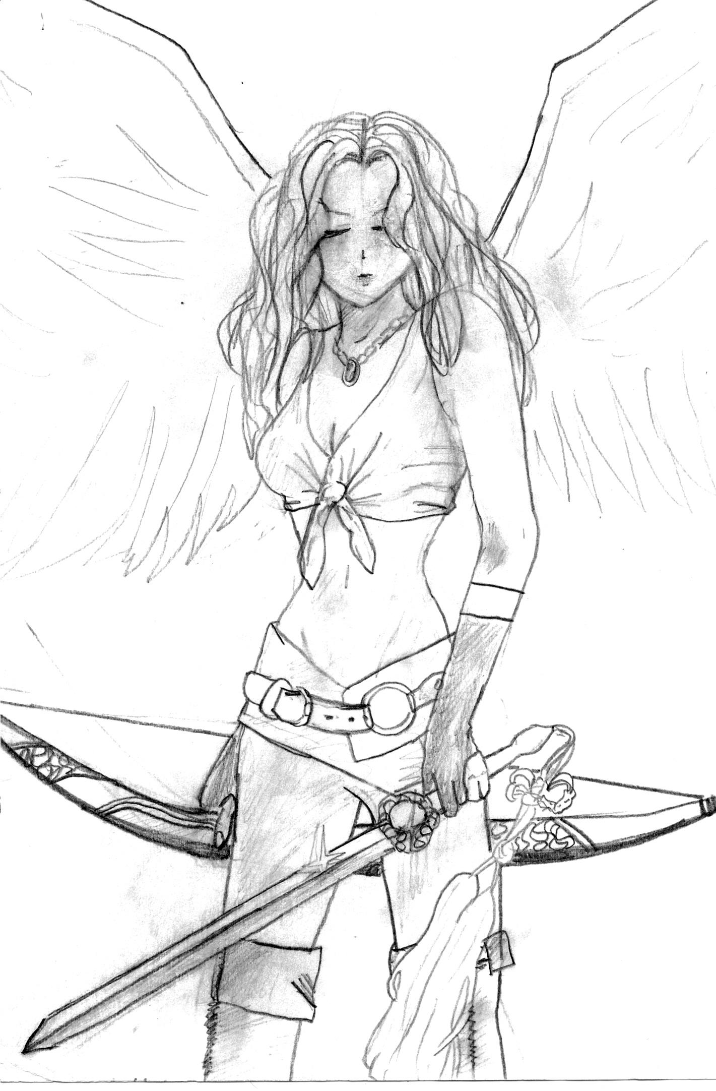Drawn warrior cyclop Drawing Girl Warrior Girl Warrior