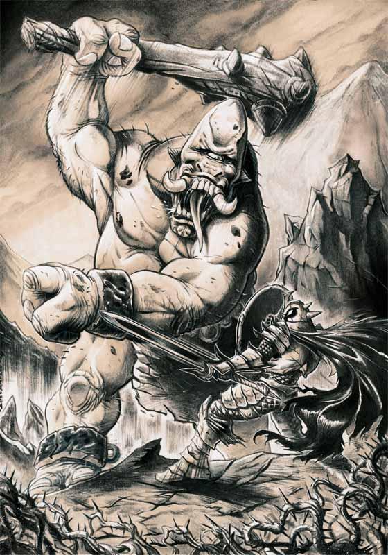 Drawn warrior cyclop By vs Zuccarello cyclops vs