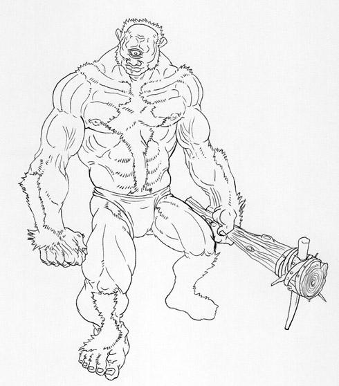 Drawn warrior cyclop Jpg  a cyclops cyclops