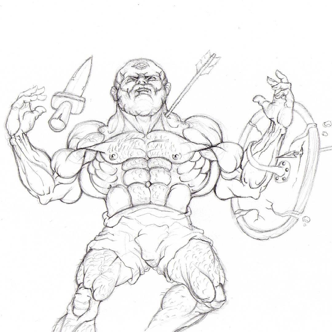 Drawn warrior cyclop Warrior #pencilsketch #drawing  Cyclop