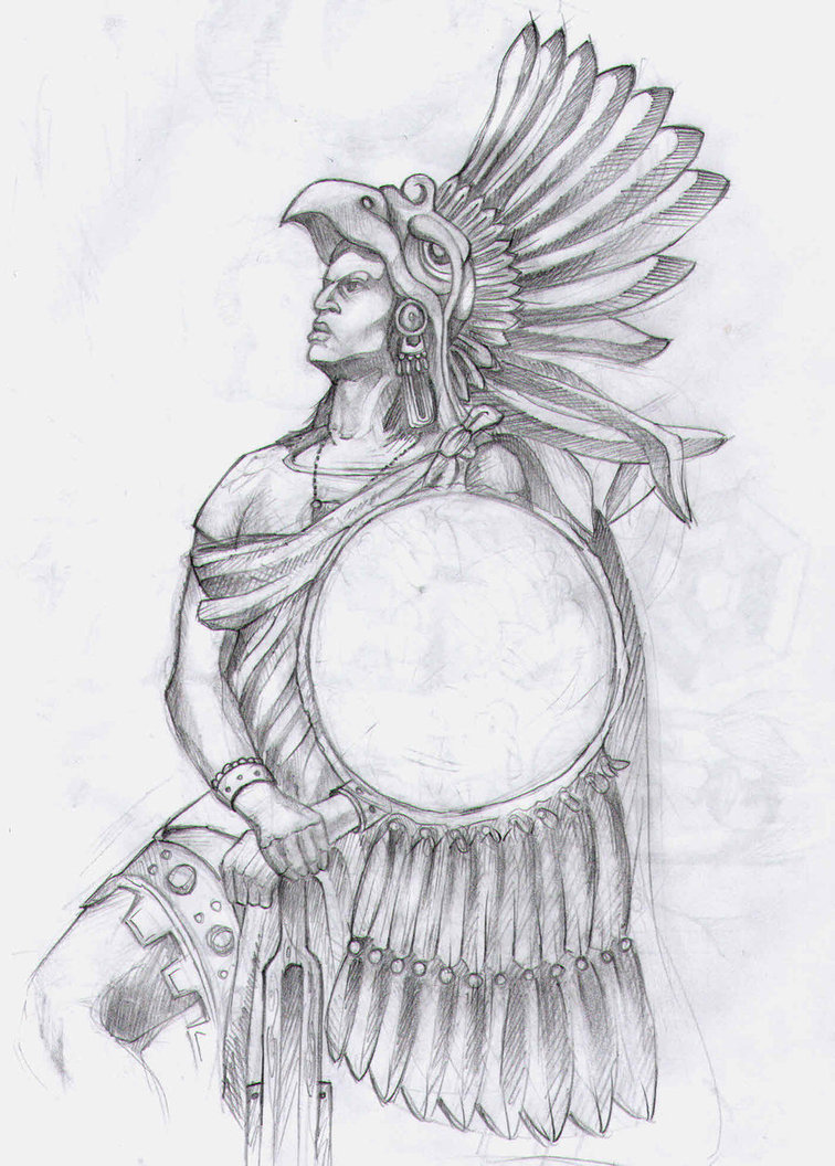 Aztec Warrior clipart princess Drawing by designs 19 aztec