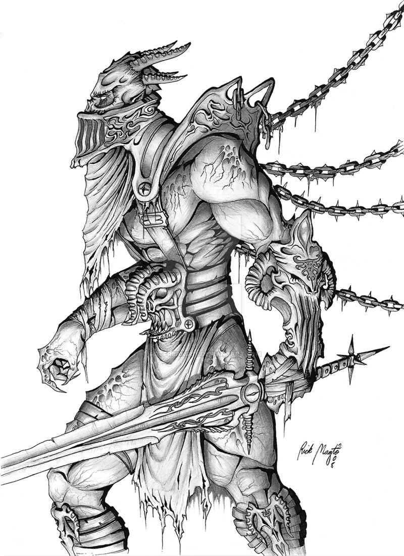 Drawn warrior demon 0 2 Demon artfreakguy by
