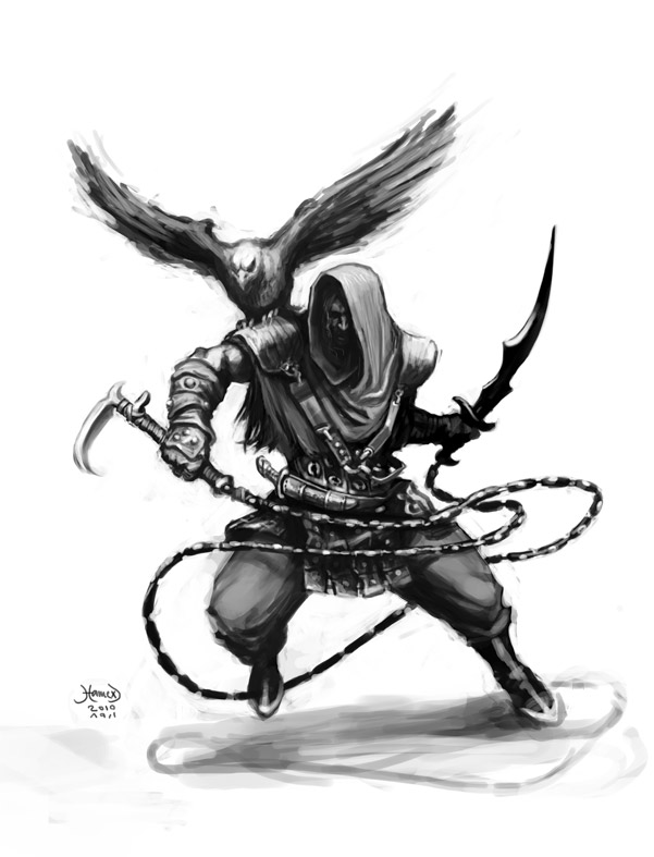 Drawn warrior demon By Warrior Arab Warrior Cocept2