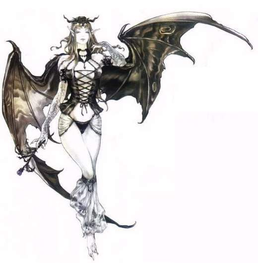 Drawn warrior demon Ten Files Mystic Succubus Top