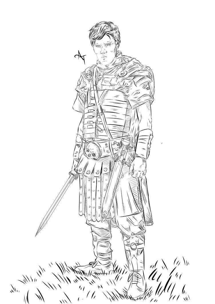 Drawn warrior detailed  Gets Reddit Stance