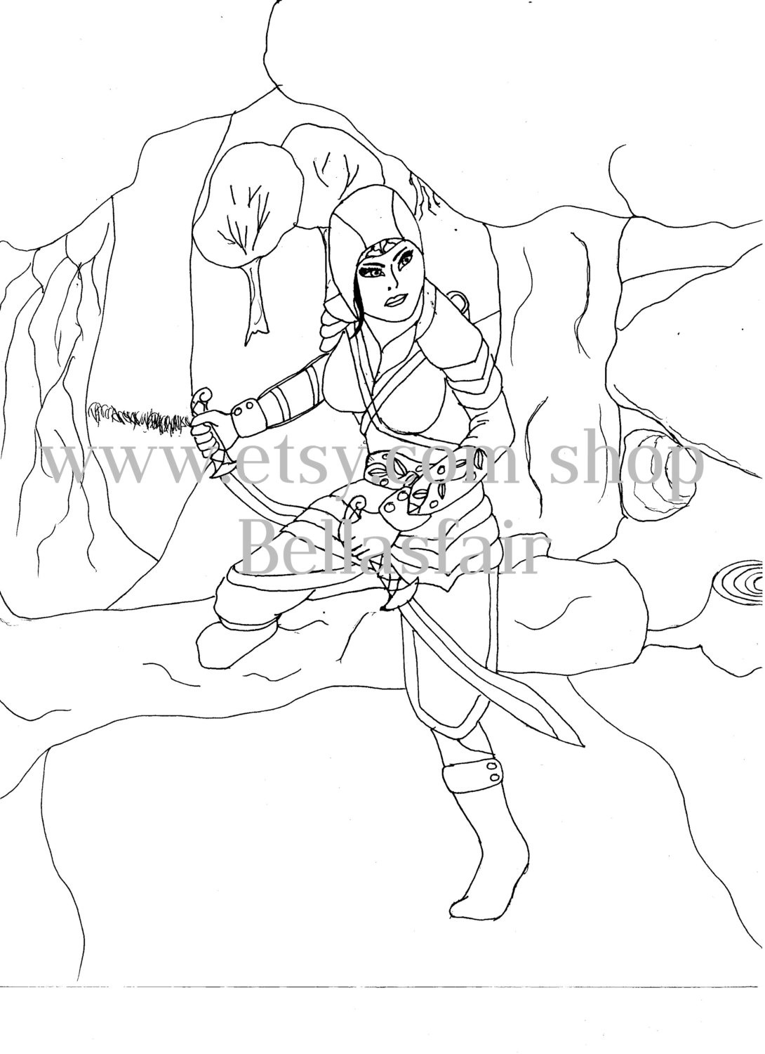 Drawn warrior detailed Item? this woman Like warrior