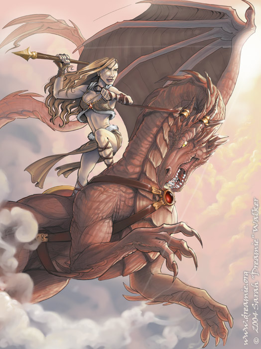 Drawn warrior dragon rider Dragon by Pinterest  dreamie