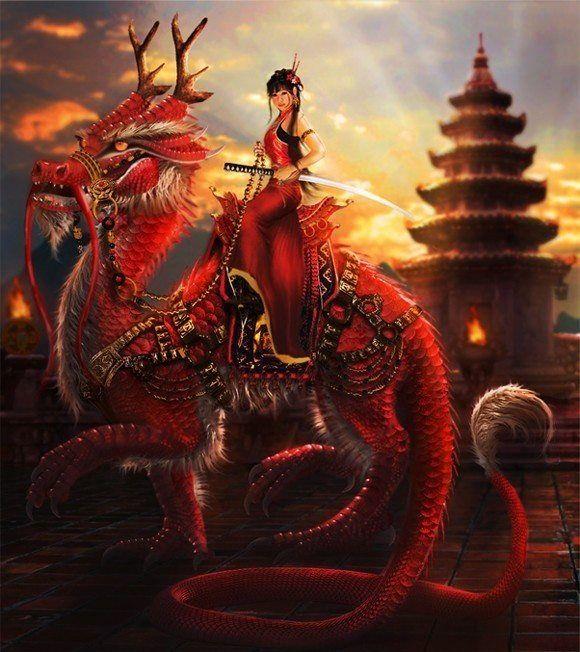 Drawn warrior dragon rider Dragons dragon and dragon female
