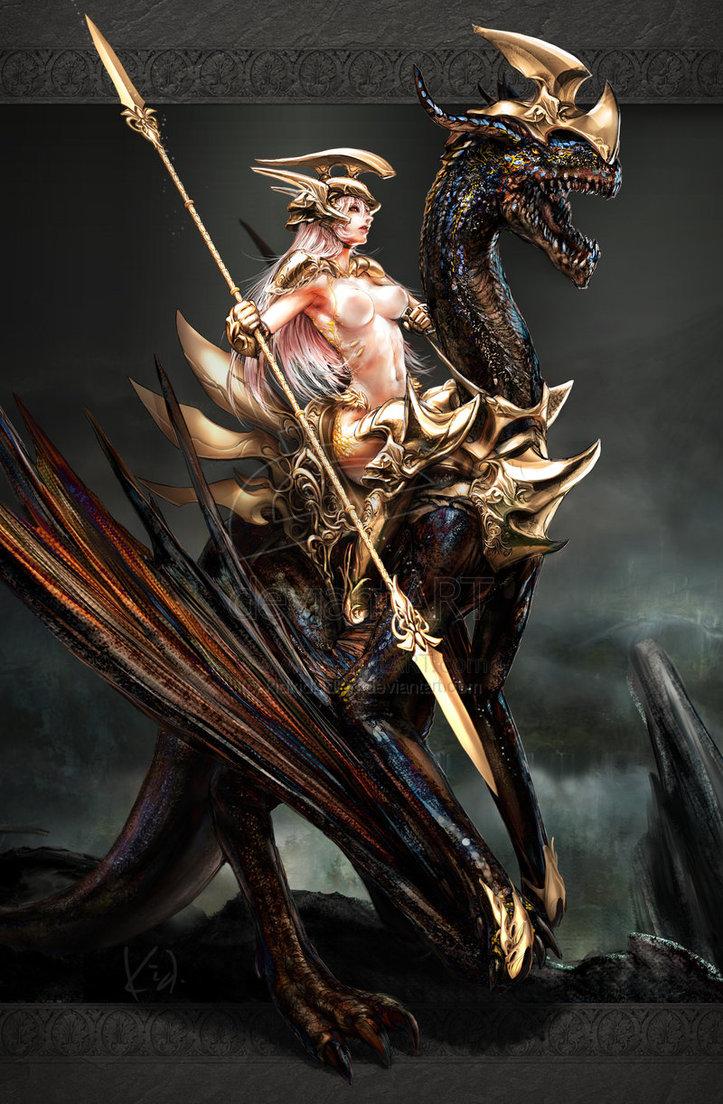 Drawn warrior dragon rider Dragon DeviantArt The by techgnotic