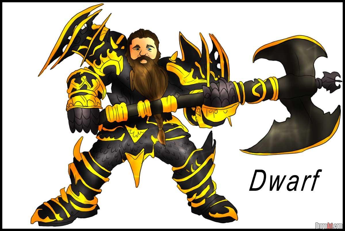 Drawn dwarf drawing  Online Draw Fantasy dwarf
