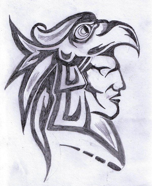 Drawn warrior face #2