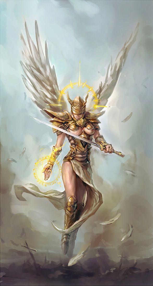 Drawn warrior female angel death More! Female Google warriors