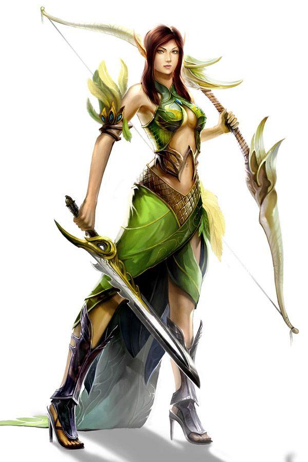 Drawn warrior female archer Best on about Pinterest warriors